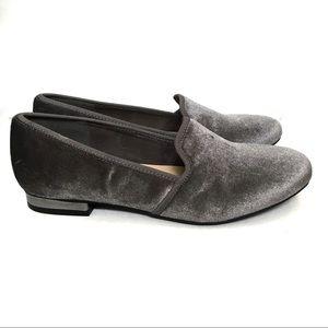 Liz Claiborne Loafers Gray Velour 6.5